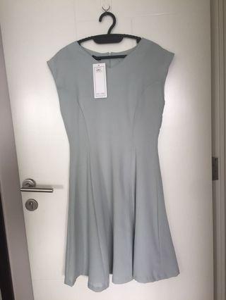 Turun harga - Mint Green Skater Dress Berrybenka