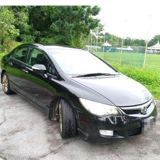 Honda Civic 1.8 with Gojek Rebate - Sporty, Comfortable, Safe.