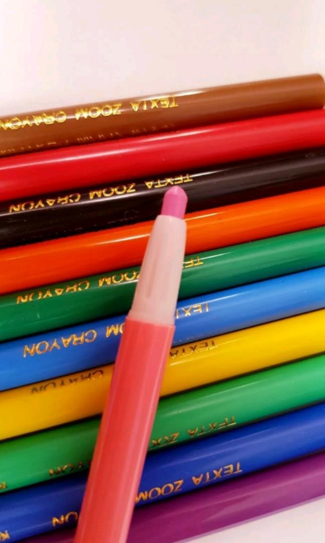 🆕️11Pcs TEXTA ZOOM Crayons for artwork - smooth writing