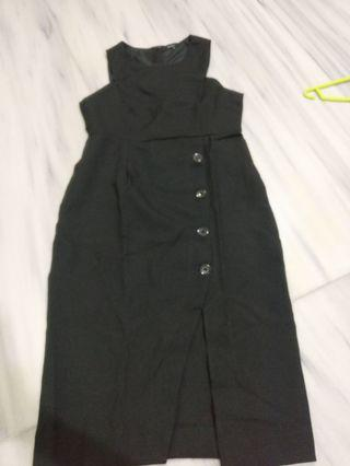 Black dress formal party sleeveless