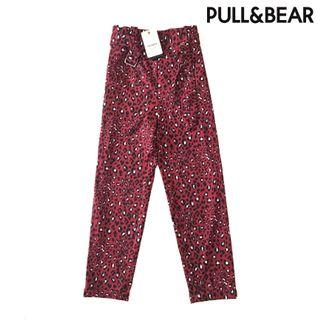 [FREE DELIVERY] Pull & Bear Leopard Paperbag Trousers