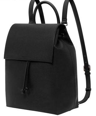 Charles and Keith black backpack