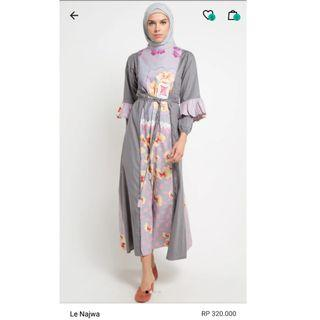 Gamis Linen print