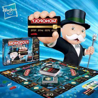 現貨 正品孩之寶Monopoly大富翁地產大亨電子銀行升級版6677益智桌游遊戲兒童玩具