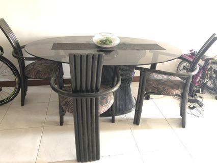 Dining Table Set with 3 chairs gd quality
