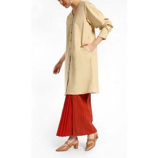 FV Basics Kurta Kurung in Beige (Fashionvalet)