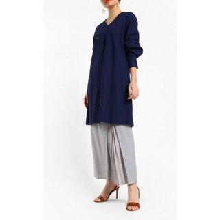 FV Basics Kurta Kurung Set in Navy Blue (Fashionvalet)