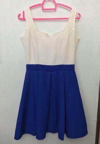 Twenty3 White Blue Sleeveless Dress
