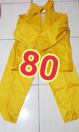 二手兩件式成人雨衣 XL size 褲長102cm
