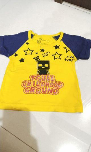 Kaos anak fit to 2-3years bahan stretch