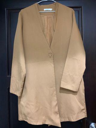 駝色韓版外套