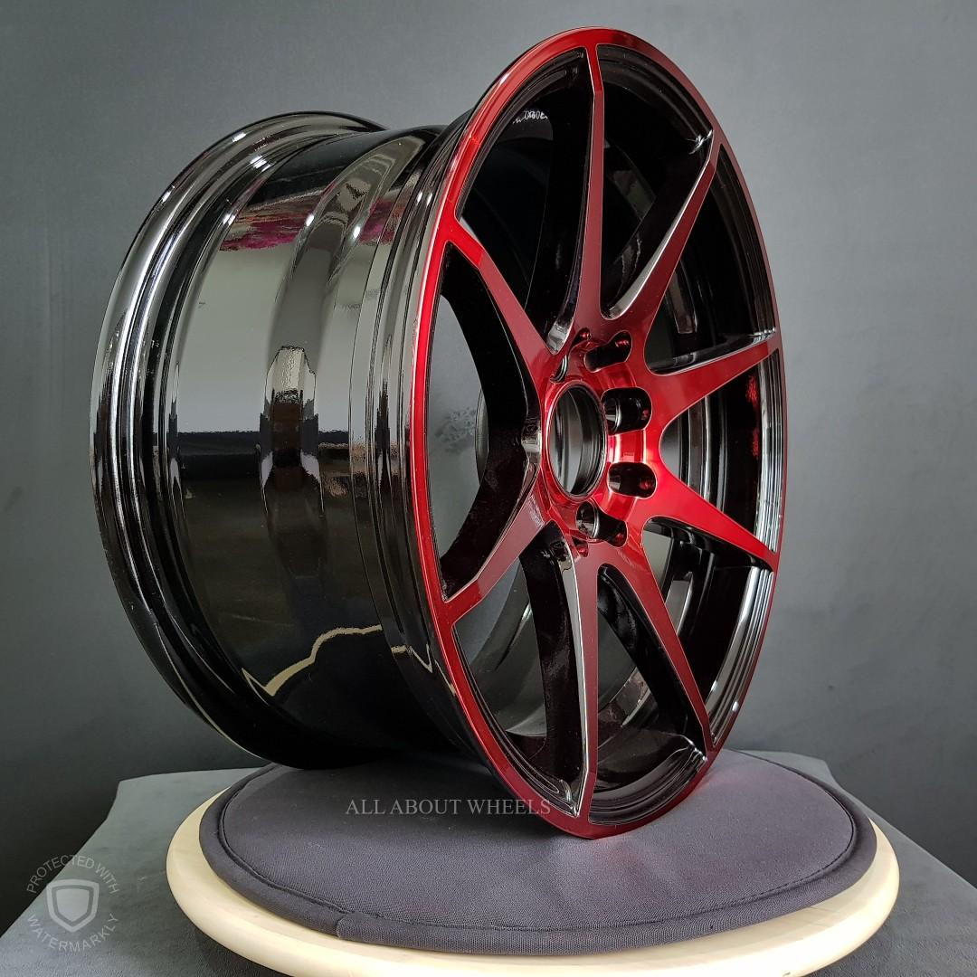 15 Inch Alloy Rims 15X7.0 ET32 8H100/114.3 BMF RED COATING - R206