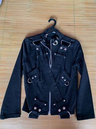 🚚 Lips service punk rock studs jacket