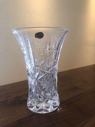 Bohemian glass flower vase