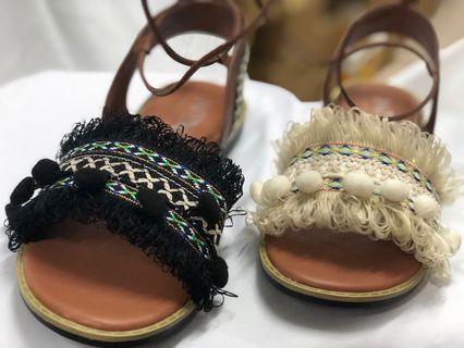 台灣製造 現貨 馬上到貨 羅馬鞋 民族風 歐美風 綁帶款