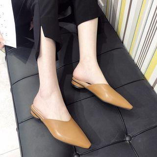 Pointed Leather Mules