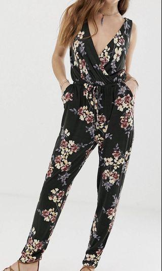 Gilli floral wrap front jumpsuit