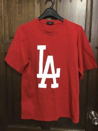 韓製-LA街頭寬鬆T恤