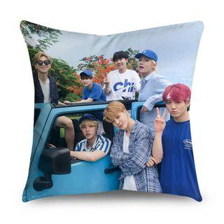 BTS bantal double-sided printing soft microfiber pillowcase car sofa cushion cover home decoration