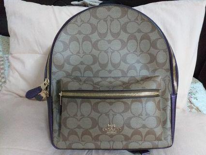 Authentic Coach Medium Charlie Backpack