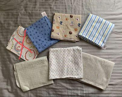 Assorted baby swaddles