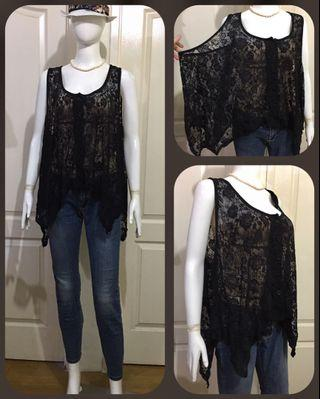 AU058 full lace top/cover up