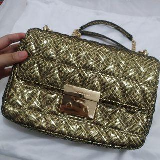 Michael Kors Hand Bag - Gold - Tas Pesta