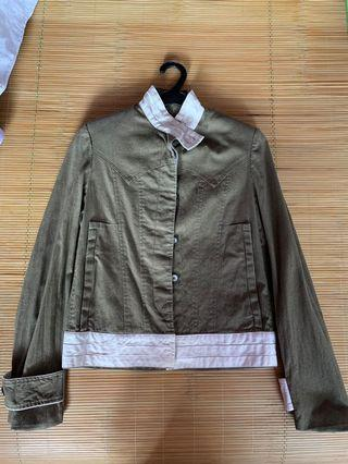 🚚 Wood and wood military jacket Size Eur 34