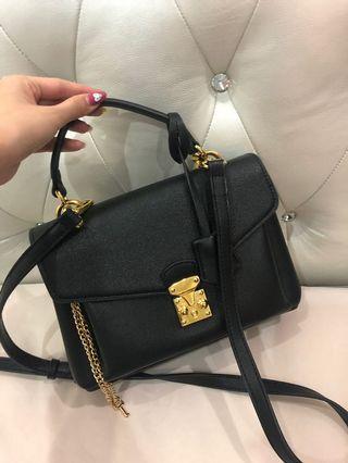 Gold-Black Handbag