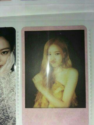 Blackpink ktl kill this love rose polaroid Photocard