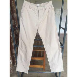 Rayyan Haya Straight Loose Cut Pants With Waistband (Cream,M) #JuneToGo
