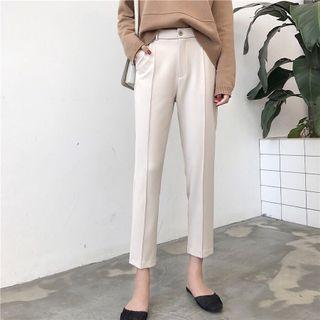 Korea Style Beige Trousers/Work Pants
