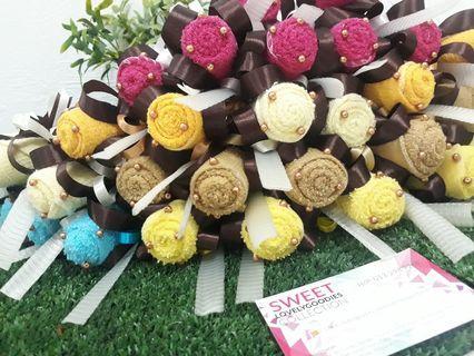 bunga telur towel roses