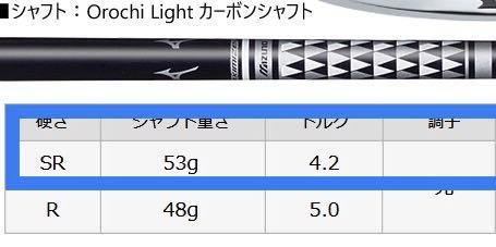 Fujikura Orochi SR graphite iron shaft (7 pcs)
