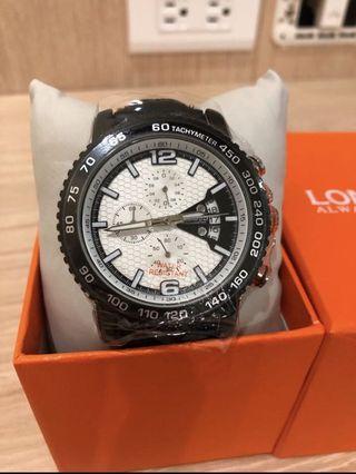 全新LONGBO皮帶手錶