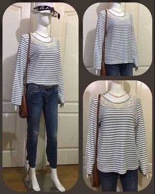 AU062 striped outerwear/top