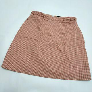 TCL Red gingham skirt