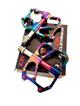 ***In Stock - Pedals CK Riding Track Aluminum Alloy Ultra Light 264g Pair Sealed Bearing Oil Slick Colour