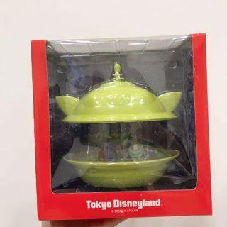 絕版 迪士尼園區 三眼怪飛碟收納盒公仔