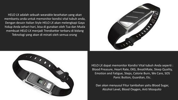 Helo LX health wristband