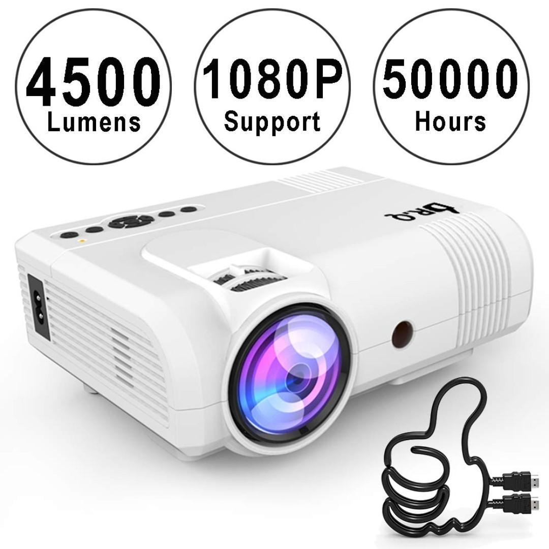 Smart Mini Projector Android HD 1080P VGA//AV//USB//HDMI//SD Home Theater Multimedia
