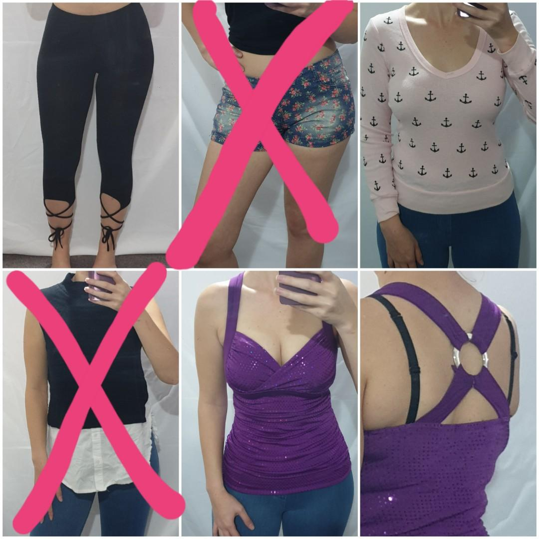 $5 each! Tops, bottoms, pants, shorts, singlet, tank top