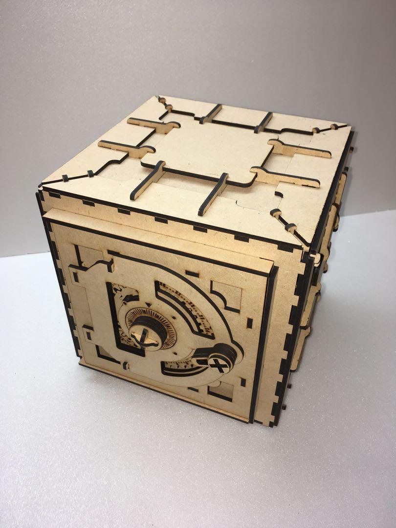 木質保險箱藝術品擺設品