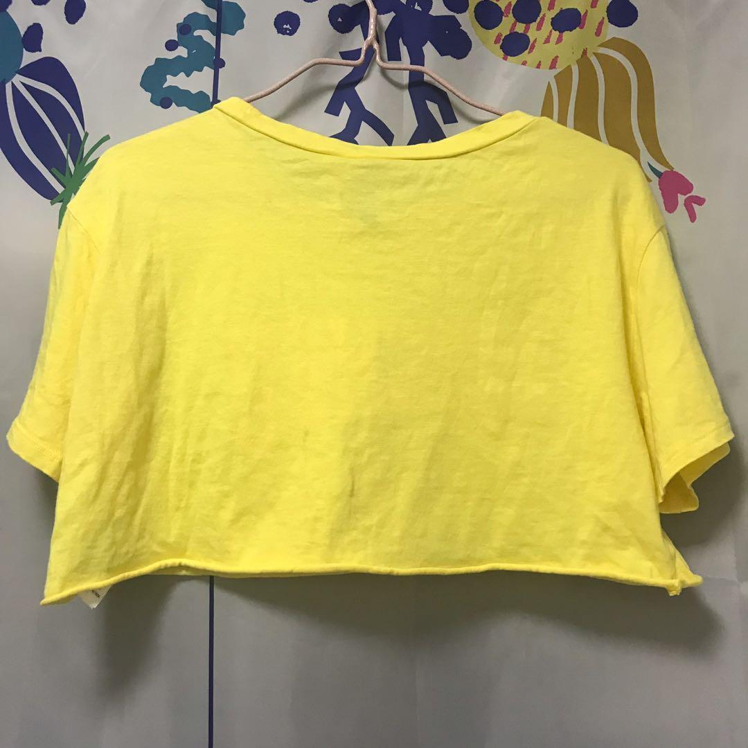 黃色短身上衣
