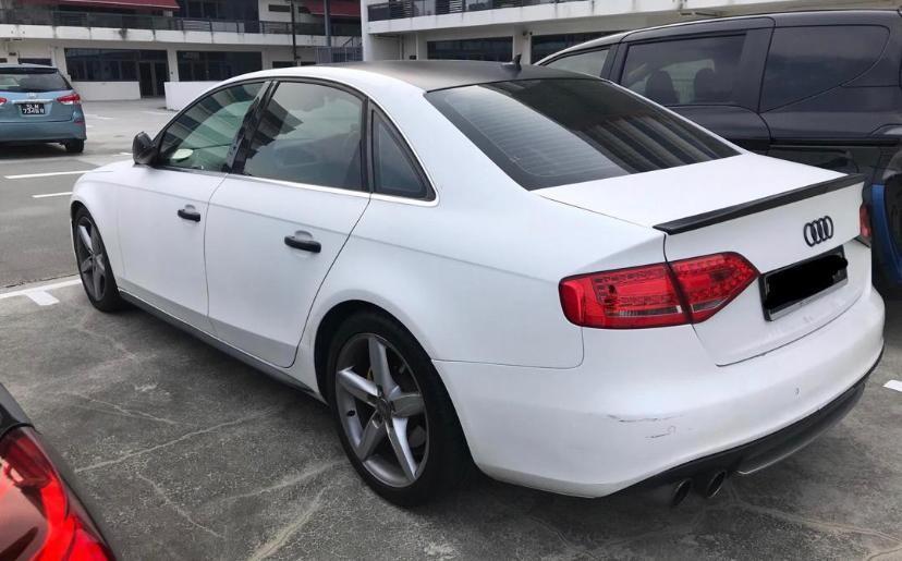 Audi A4 2.0A  Super Sprint Exhaust  Matt white BREMBO BRAKE Selling at RM15,500 siap