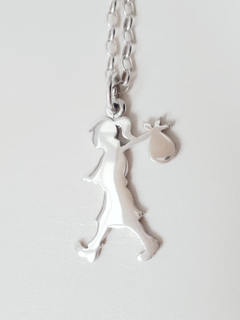 BRAND NEW KAREN WALKER LARGE RUNAWAY GIRL NECKLACE