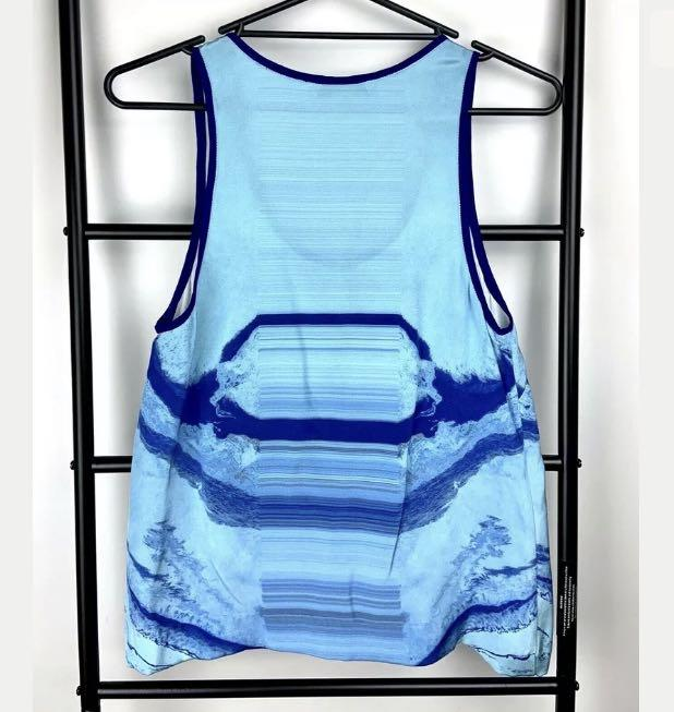 Dion Lee S/M blue tank top cami shirt blouse designer casual summer ocean