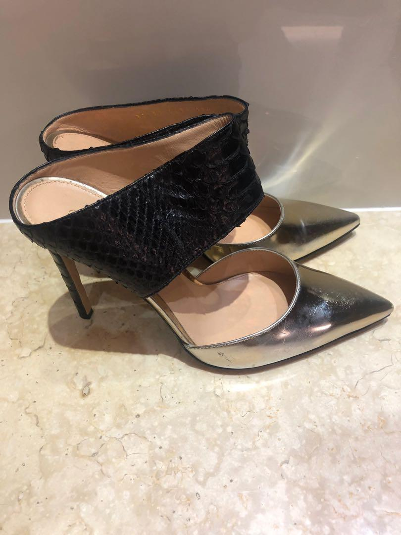 Gianvito Rossi Mixed Leather High Herls
