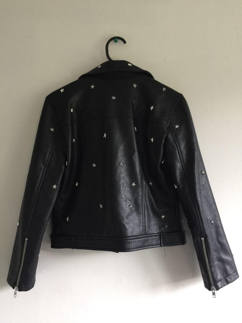 Glassons Star Studded Leather Jacket ⭐️