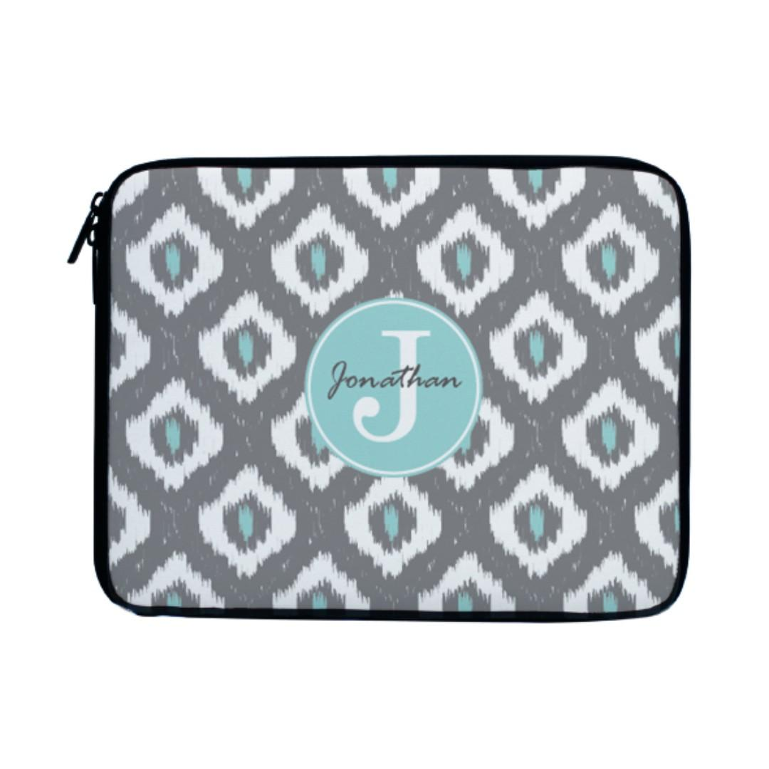 Ikat Monogram Laptop Case Sleeve Bag